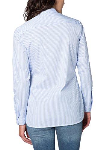 ETERNA long sleeve Blouse MODERN FIT striped azul claro