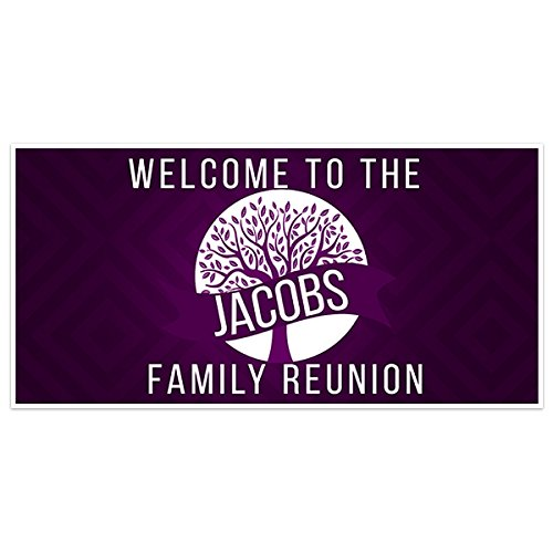 Purple Tree Family Reunion Banner Personalized Backdrop Decoration]()