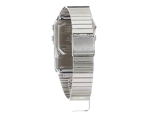 Casio Men s Silver Tone 25 Memory Calculator Databank Watch