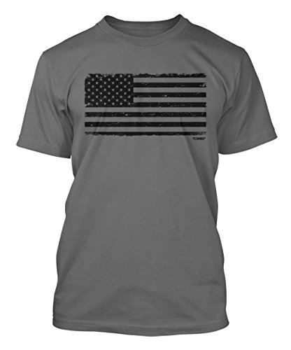 Distressed Black Flag Mens T shirt product image
