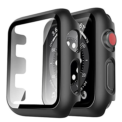 Estuche y rotector de pantalla Apple Series 3 2 1 42mm negro