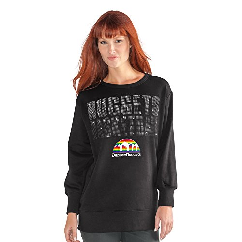NBA Denver Nuggets Women's Showtime Pullover Sweater, X-Large, Black Denver Nuggets Nba Crystal