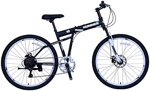 Upten Hummer Folding Bike Foldable Bicycle Mountain Cycles Black