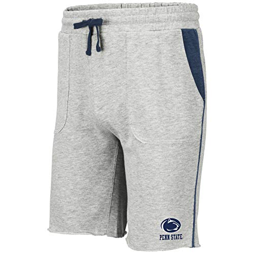 Colosseum NCAA Mens Cutoff Athletic Training Gym Shorts-Heather Grey-Penn State Nittany Lions-Large