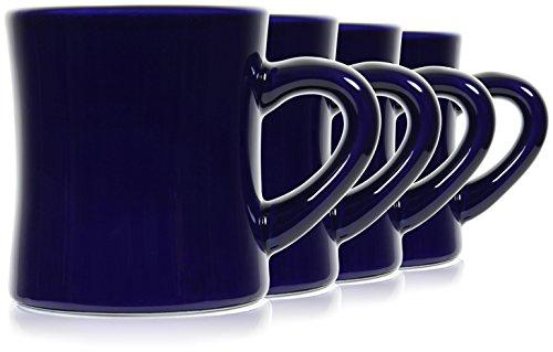 - Serami 11oz Dark Blue Coffee Diner Mugs. Super Heavy Duty, Set of 4
