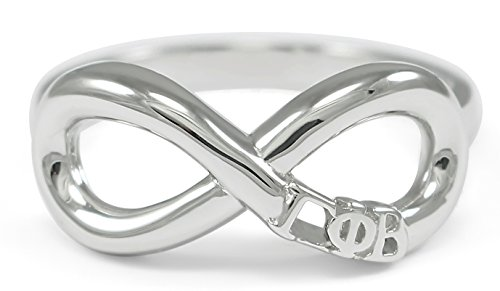 Gamma Phi Beta Sterling Silver Infinity Ring (06)