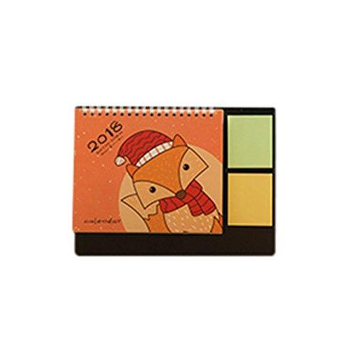 [Euone 2018 Cute Cartoon Animal Desk Desktop Calendar Flip Stand Table Office Planner (D)] (Cute Halloween Desktop Wallpapers)