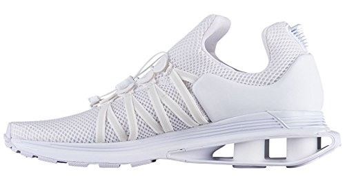 Image of NIKE Men's Shox Gravity White/White/White Nylon Running Shoes 13 (D) M US