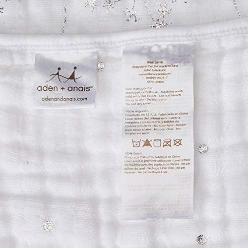aden + anais 6134G Métallique Silver Deco Couverture de Rêve