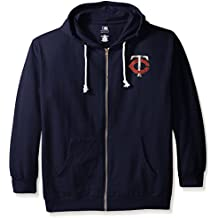 MLB Minnesota Twins Women's Plus Size Zip Hood with Logo, 1X, Navy