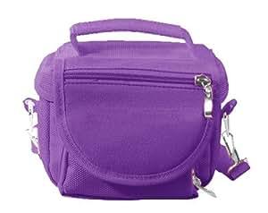 Emartbuy® Púrpura Nintendo Ds Lite / DSi / DSi XL/ 3DS / 3DS XL Carcasa De Viaje Carry Case