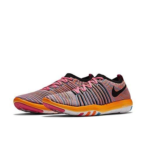Nike Womens Free Transform Flyknit (7 B(M) US, Pink Pow/Chlorine Blue/Total Orange/Black)