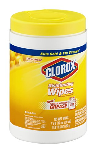 Clorox Disinfecting Wipes Citrus Blend 105 CT (Pack of 16) by Clorox