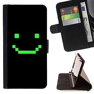For HTC Desire 626 626w 626d 626g 626G dual sim Case , Juego de ordenador Arte sonriente del Emoticon- la tarjeta de Crédito Slots PU Funda de cuero Monedero caso cubierta de piel
