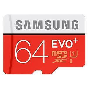 Samsung Evo Plus 64GB MicroSD XC Class 10 UHS-1 Mobile Memory Card for Samsung Galaxy S7 & S7 Edge with USB 2.0 MemoryMarket Dual Slot MicroSD & SD Memory Card Reader