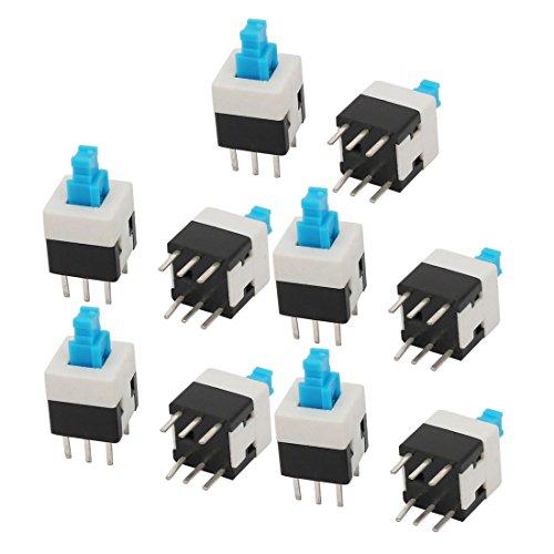 uxcell トーチスイッチ 押しボタンスイッチ 瞬時接触 6P DIP 8mmx8mm PCB 10個入り