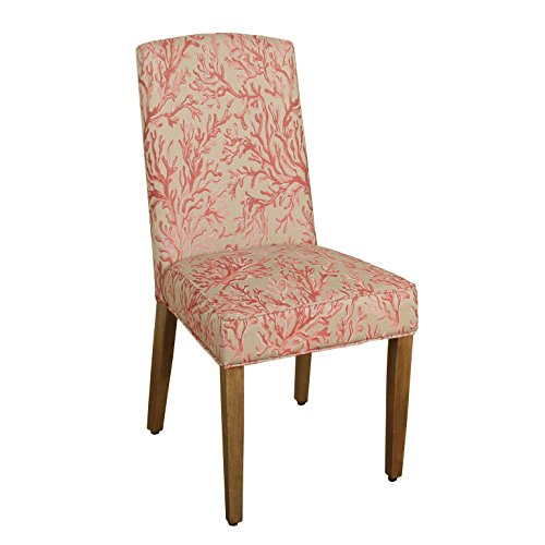 HomePop Parsons Modern Dining Chair, Single Pack, Pink Coral (Chairs Dining Driftwood)