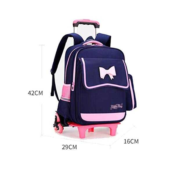 LUONE Bambini Zaino Trolley, Salire Le Scale Sei turni Trolley Schoolbag ad Alta capacità Zaino Estraibile Daypacks… 2 spesavip