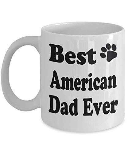 11oz Funny Cat Lover Mug Best American Dad Ever Cat Puppy Supplies Gift Coffee Mug Tea Cup White,al5802