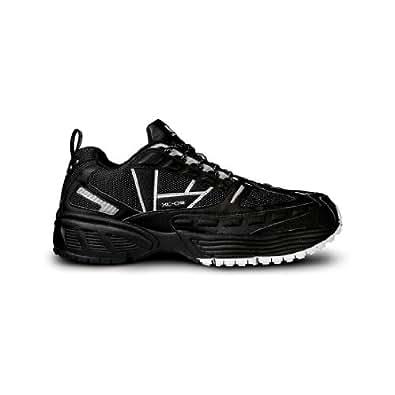 UK Gear Men's XC-09 Running Shoes,Black/Silver,14.5 M