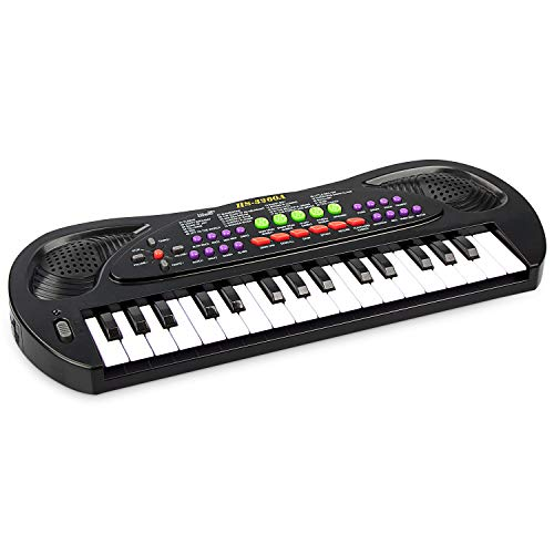 aPerfectLife Kids Piano, 32 Keys Multifunction Electronic Kids Keyboard Piano Music Instrument for Toddler with Microphone (Black) (Best Musical Instrument For Child To Learn)