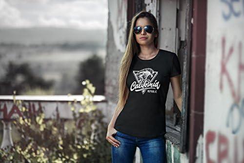 neverless California Republic damski T-Shirt Mega mikrofalowa druku Wave Surf Slim Fit: Odzież