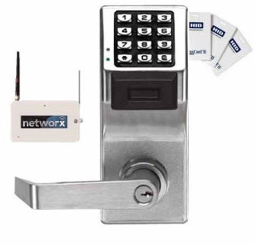 Alarm Lock Systems Inc. PDL6100 US26D Networx Digital/Prox Cylindrical Lock Us26D, Satin Chrome by Alarm Lock