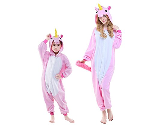 New Kids Children Kiguurmi Pink Unicorn Onesies Pajamas Cosplay Costume for Teens 125# (Cosplay Outfits For Sale)