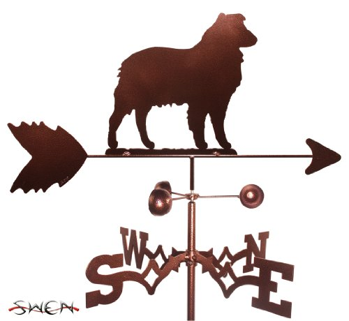 SWEN Products Hand Made Australian Shepherd Dog Garden Stake Weathervane ~New~