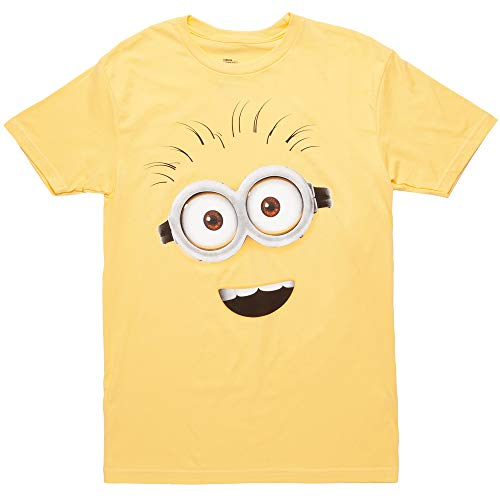 Despicable Me Minions Face Questionable Phil T-Shirt - Yellow (Large) ()