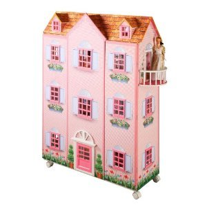 Teamson Kids Paris Mansion Doll House with Furniture