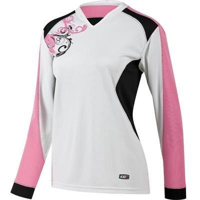 Louis Garneau Evo Jersey 2 - Long-Sleeve - Women's White/Pink, L