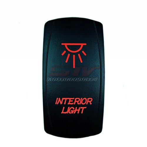 MADMAXX Motorsports LED Rocker Switch INTERIOR LIGHTS SPST On/Off 12 Volt (Red)