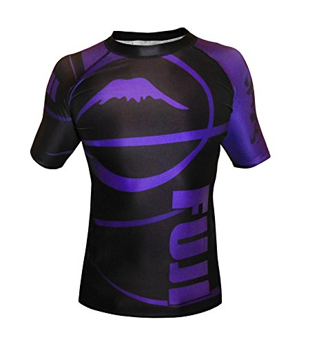 Fuji IBJJF Freestyle Short Sleeve Rash Guard, Purple, Medium