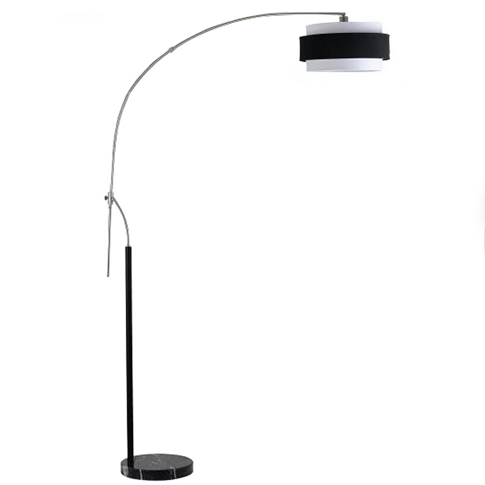Cal Lighting BO-2100FL Floor Lamp with Black Hardback Shades, Brushed Steel Finish by Cal B0043SGDWE  ブラッシュドスティール(Brushed Steel)