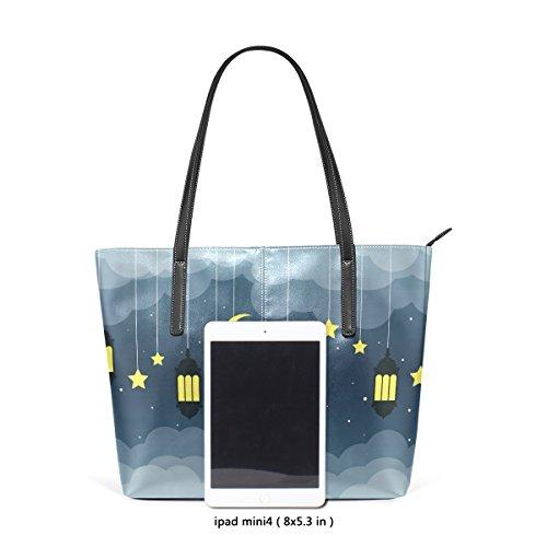 Schultertasche Handtasche Handtaschen Laterne Arabische für COOSUN Tasche PU Nacht Leder Frauen und pB7wBqaSn