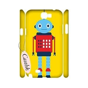 Casehk New Design Hard Back Case for Samsung Galaxy Note 2 N7100, Custom Robot Samsung Galaxy Note 2 N7100 3D Case, Robot DIY Phone Case