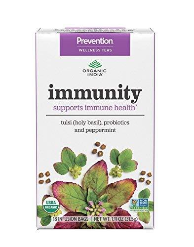 ORGANIC INDIA Prevention Wellness Teas - Immunity, 18 Count