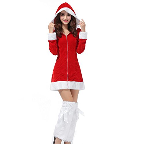 Knee Length Minnie Mouse Costume (Bolayu Women Christmas Party Fancy Dress Cosplay Suit Costume)