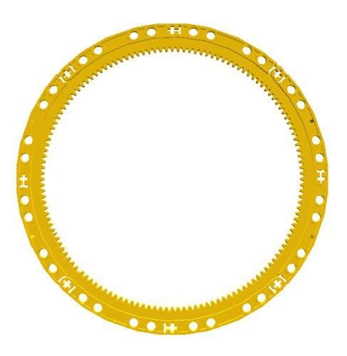 (LEGO Technic GIANT HUGE YELLOW INNER RACK GEAR Round Circle Curved Bucket Wheel Excavator Part Piece 24121 42055)