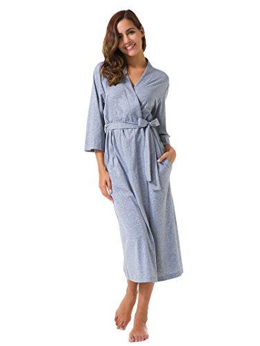Notte notte camicia Vestaglia vestaglia da da camicia vestaglia notte Donna da SIORO Grigio Kimono qtnxFBp8w