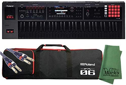 [スポンサー プロダクト]Roland ローランド - ミュージック ワークステーション シンセサイザー FA-06B 限定生産 ブラック鍵盤モデル + 背負える専用ソフトケース&ケーブル&クロス セット