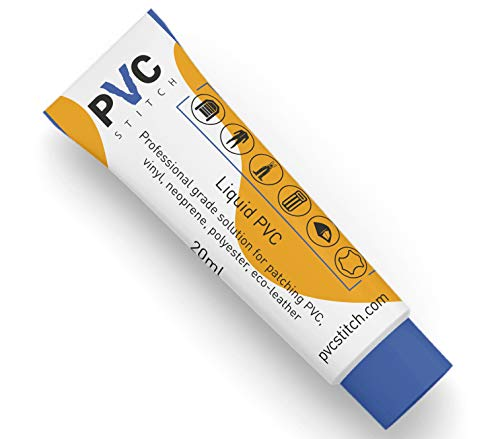 PVC Stitch |PVC Waterproof Glue| #1 Adhesive Caulk for PVC, Vinyl (inflatables Boats Swimming Pools air mattresses Waders) Neoprene (Wetsuits) Polyester (Tents) Cords, Goretex & Other Outdoor Gear