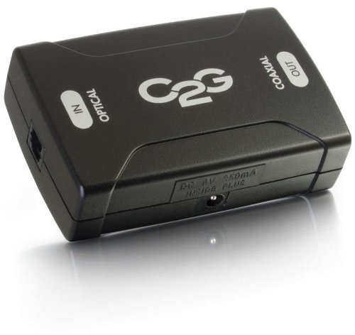 C2G/Cables to Go 40019 Optical to Coaxial Digital Audio Converter (Black)