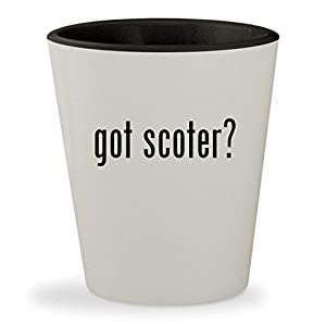 got scoter? - White Outer & Black Inner Ceramic 1.5oz Shot Glass