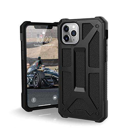UAG Designed for iPhone 11 Pro [5.8-inch Screen] Monarch Feather-Light Rugged [Black] Military Drop Tested iPhone Case