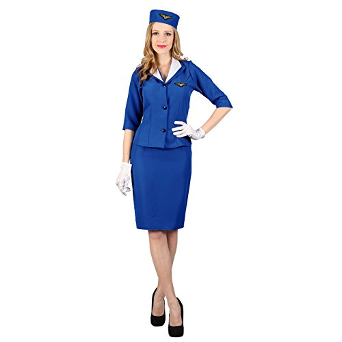 Ladies Pan-Am Hostess Costume for Airline Aviation Stewardess Fancy Dress