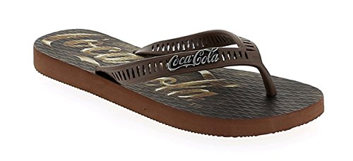 Chaussures Coca Cola, Homme, Pierre, Tongs, Brun