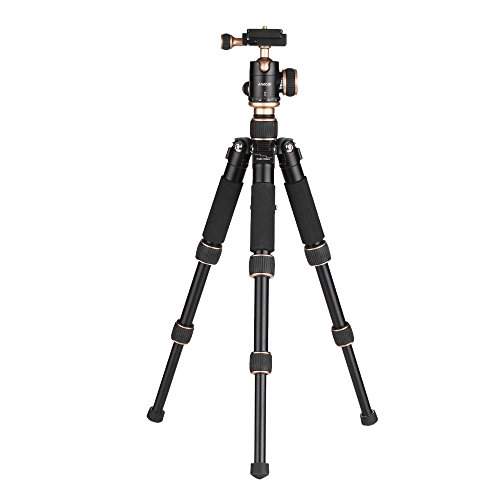 Andoer 53cm/21 Travel Portable Mini Tabletop Tripod with Bal