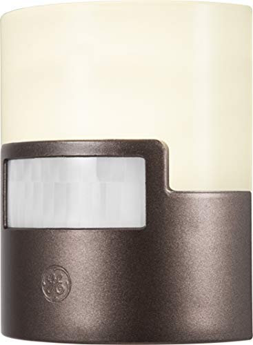 GE 26140 Ultra Brite Motion-Activated LED Light, 40 Lumens, Soft White, Night Light, Energy Efficient, Ideal for Hallway, Entry, Stairs, Bathroom, Kitchen, Garage, Utility Room, Bronze